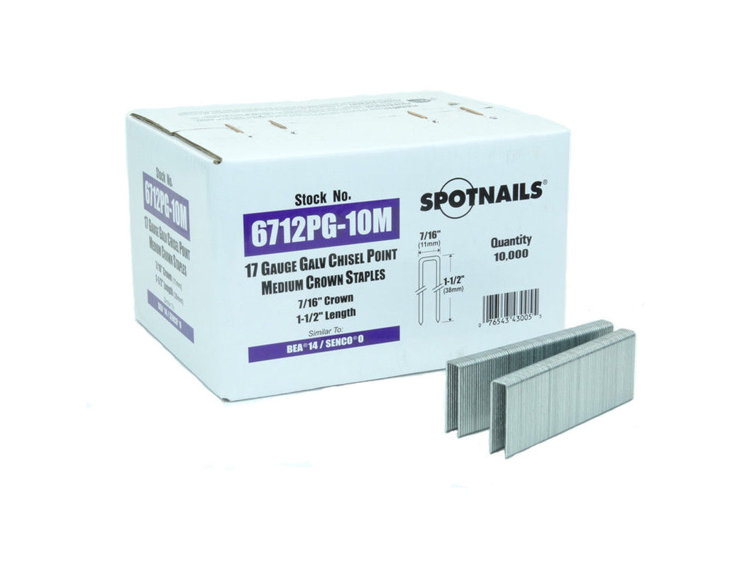 Spotnails 67512PG 17 Gauge Staples 1.5
