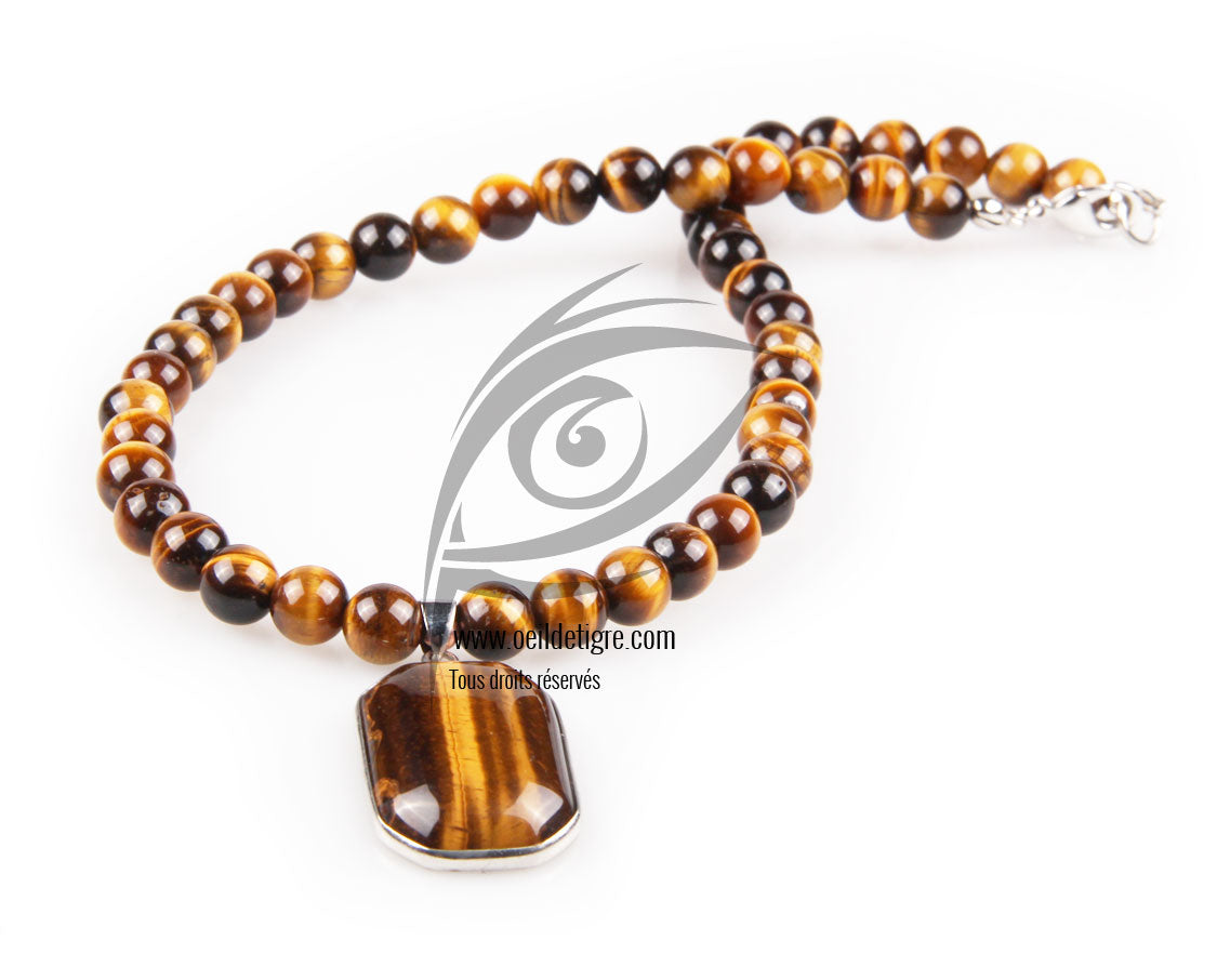 collier homme tigre
