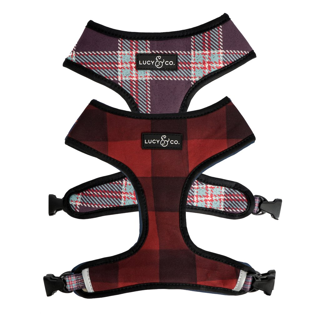 Buffalo Plaid Reversible Harness - Frank and Millie