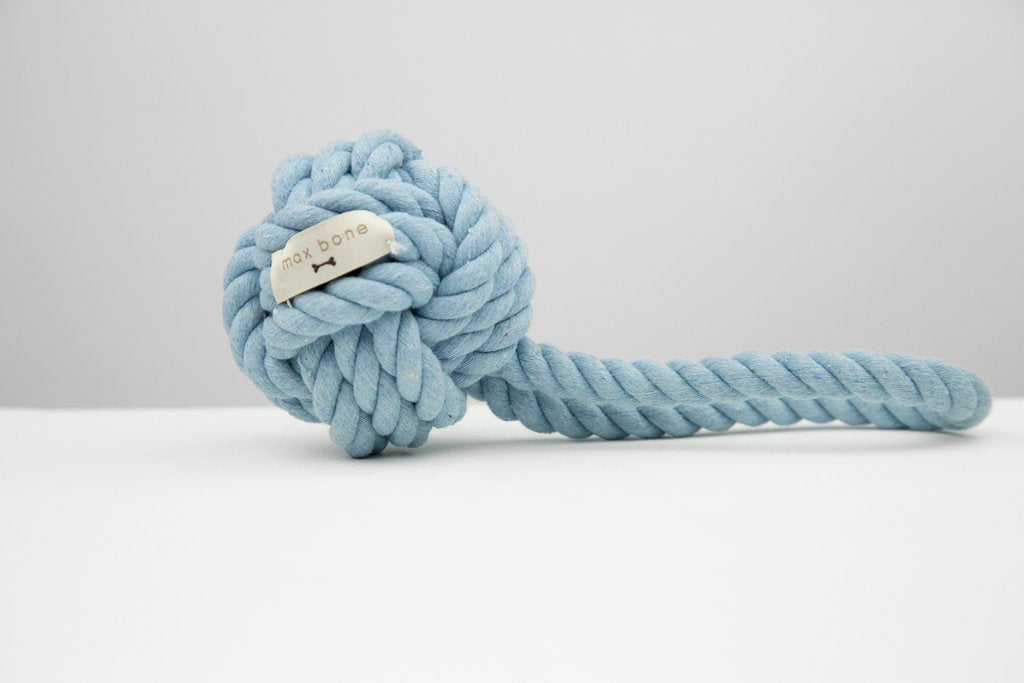 Ocean Blue Rope Toy - Frank and Millie