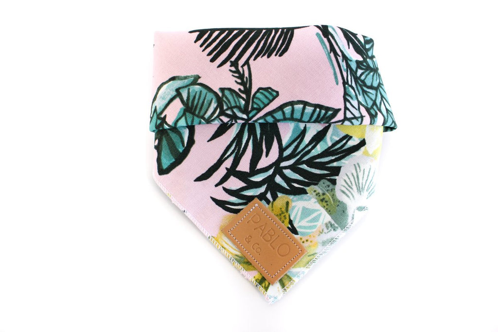 Pink Leaves Bandana - Frank and Millie