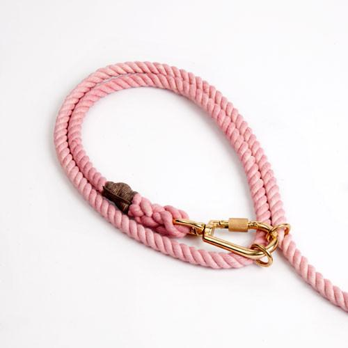 Blush Cotton Rope Dog Leash, Adjustable - Frank and Millie