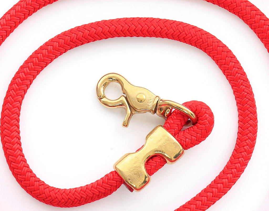 Ruby Marine Rope Dog Leash - Frank and Millie