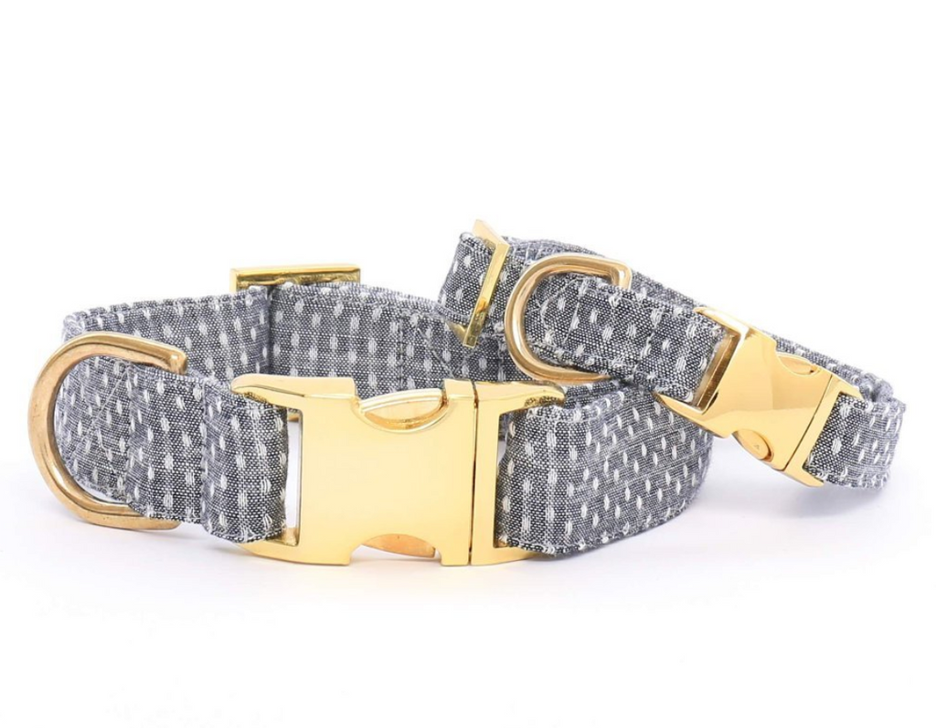 Swiss Dots Dog Collar - Frank and Millie