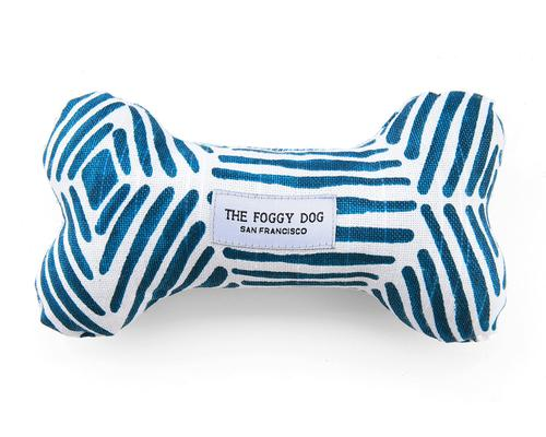 Boho Diamonds Dog Bone Squeaky Toy - Frank and Millie