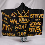 Premium Quality Strive For Greatness Black And Gold Hooded Blanket