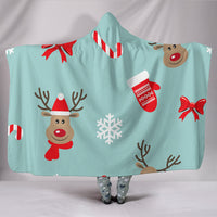 Premium Quality Christmas Deers Hooded Blanket