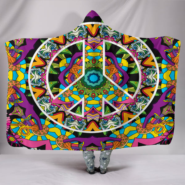 Premium Quality Peace Hooded Blanket