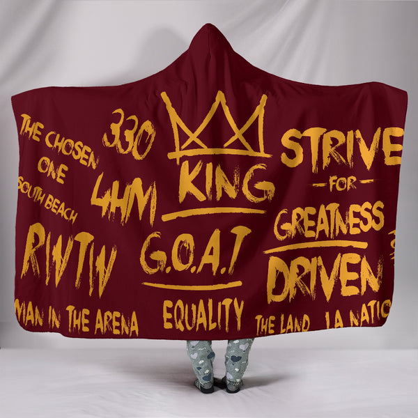 Premium Quality Strive For Greatness Red And Gold Hooded Blanket