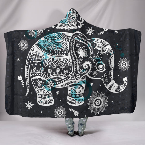 Premium Elephant Hooded Blanket