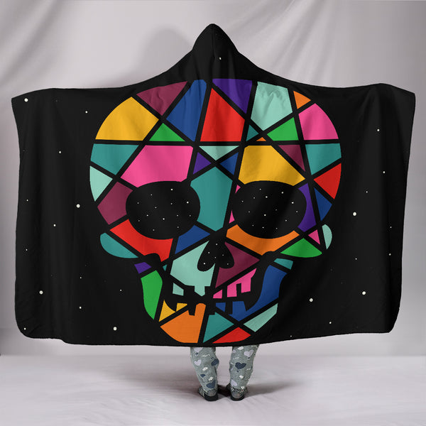 Premium Quality Skull Hooded Blanket