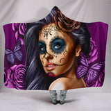Everything Hooded Calavera Hooded Blanket
