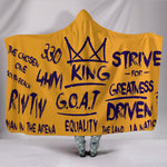 Premium Quality Strive For Greatness Purple And Gold Hooded Blanket