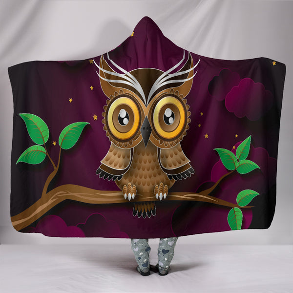 Premium Quality Owl Hooded Blanket