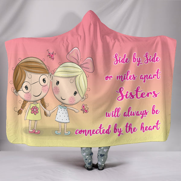 Premium Quality Sisters Love Hooded Blanket