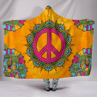 Premium Quality Orange Peace Hooded Blanket