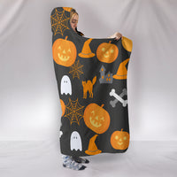 Trick Or Treat Hooded Blanket