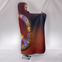 Premium Boho Peace Hooded Blanket
