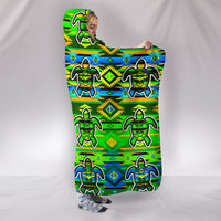 Premium Quality Nature Turtle Hooded Blanket