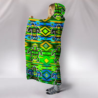 Nature Turtle Hooded Blanket