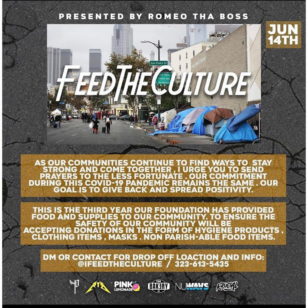 Playtimezover joined the 2020's #iFeedTheCulture from 12PM-2PM