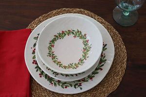 Christmas Wreath Soup/Cereal Bowl