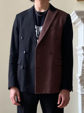 ROBERT SINGLE-BREASTED BLACK JACKET