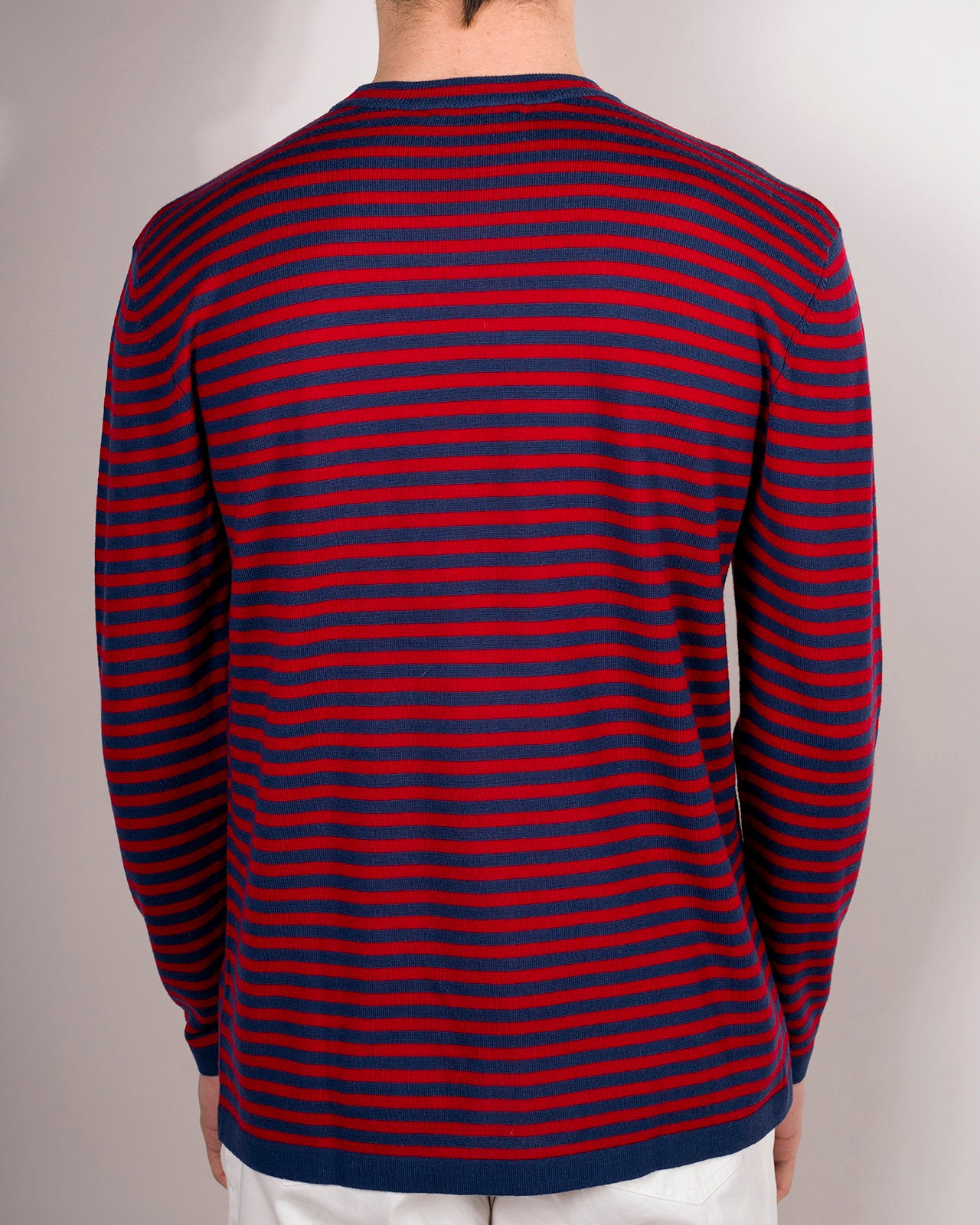 RONCOLA LIGHTWEIGHT RED-BLUE STRIPED CREW