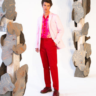 ROBERT SINGLE-BREASTED PEACHY PINK JACKET