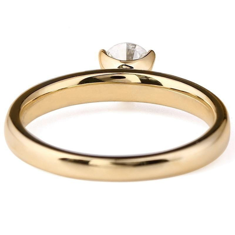 14k Yellow Gold Solitaire Moissanite Ring 0.4ct