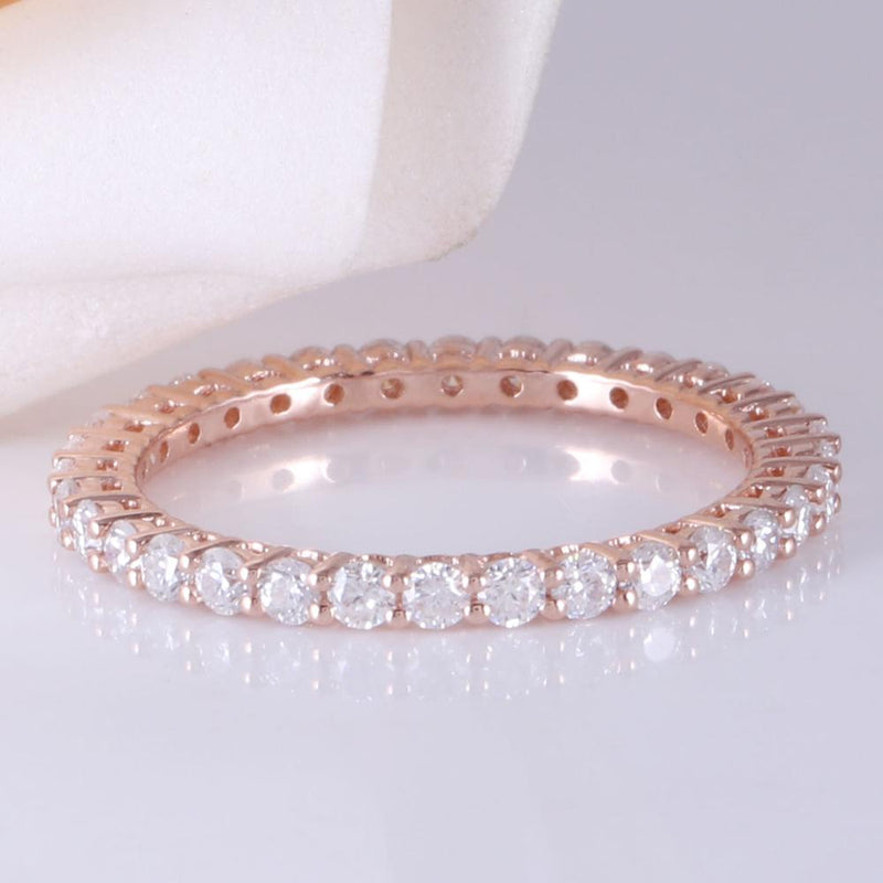 14k Rose Gold Eternity Ring / Wedding Band 0.75ct Total