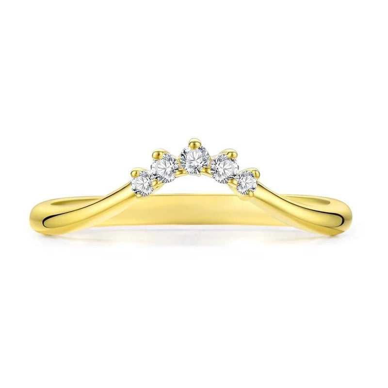 10k Gold Moissanite Ring, 5 Stone, .11 Carat Total Weight - Luxus Moissanite Rings & Jewelry