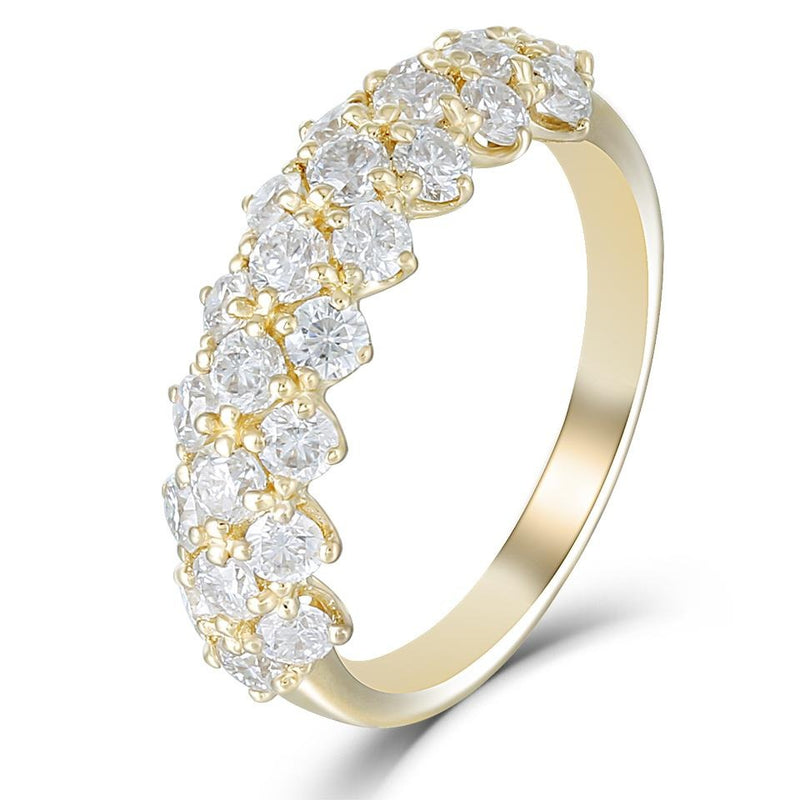 14k Yellow Gold Half Eternity / Anniversary Ring 1.25ct Total