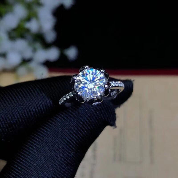 Vintage Moissanite Engagement Ring 1.2 Carat - Luxus Moissanite Rings & Jewelry