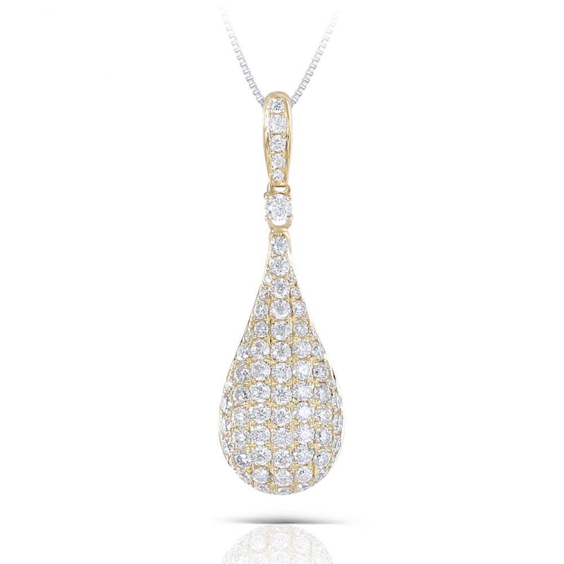 14k Yellow Gold Moissanite Pendant / Necklace