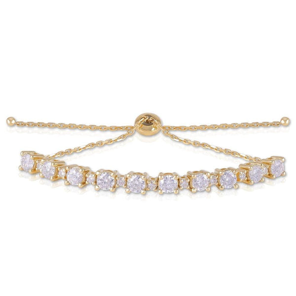 14k Yellow Gold Tennis Moissanite Bracelet 2.8ctw