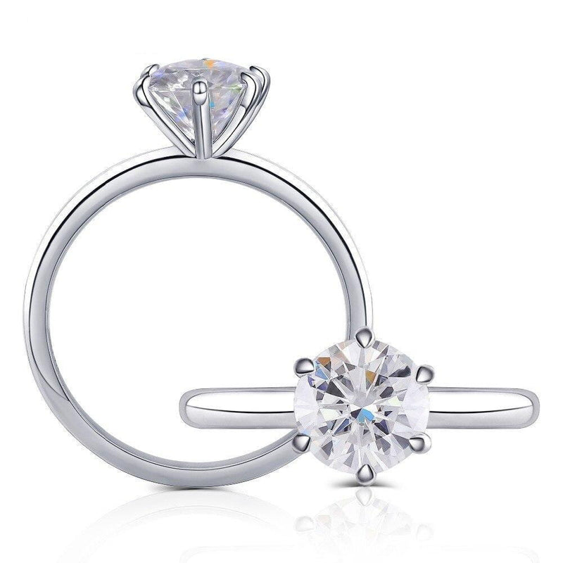 10k White Gold Solitaire Moissanite Ring 1.5ct - Moissanite Engagement Rings & Jewelry | Luxus Moissanite