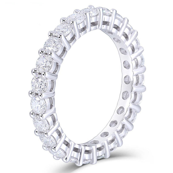 14k White Gold Moissanite Eternity Ring Approx 1.5 Carat Total