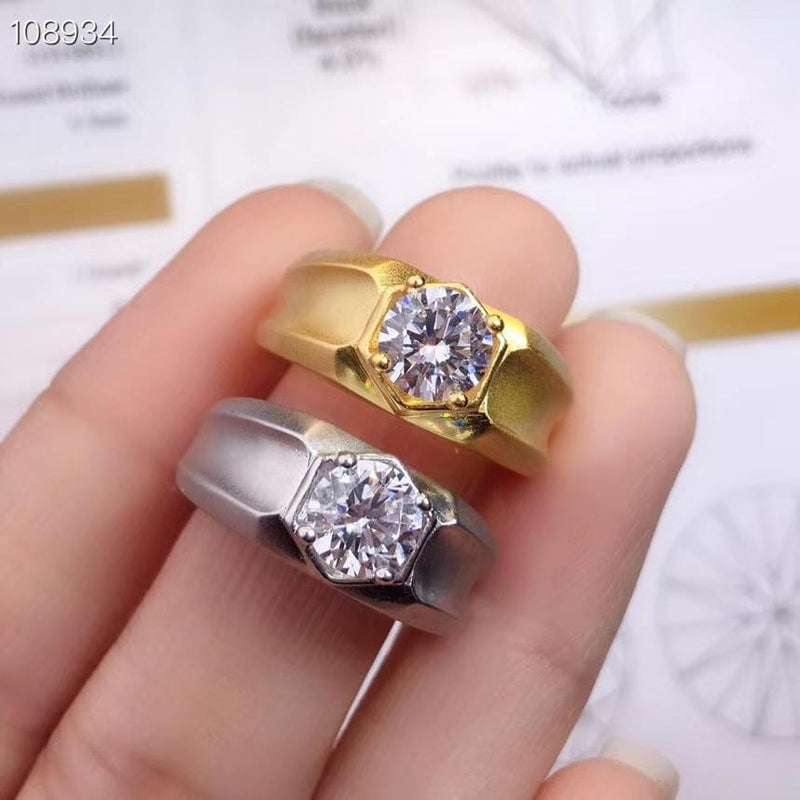 Resizable White or Yellow Gold Moissanite Ring 1ct - Moissanite Engagement Rings & Jewelry | Luxus Moissanite