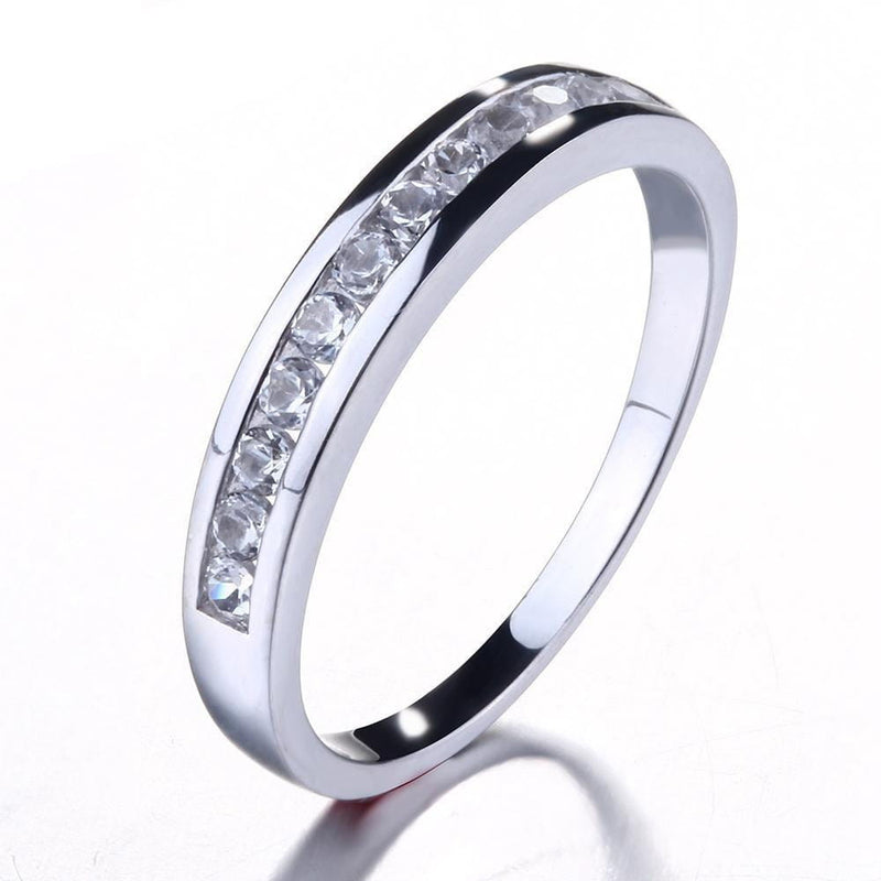 10k White Gold Moissanite Anniversary Wedding Band 0.4ct