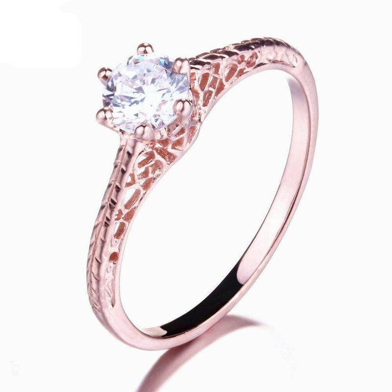 14k Rose Gold Vintage / Unique Moissanite Ring 0.5ct