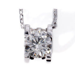 18k White Gold Moissanite Necklace 1 Carat