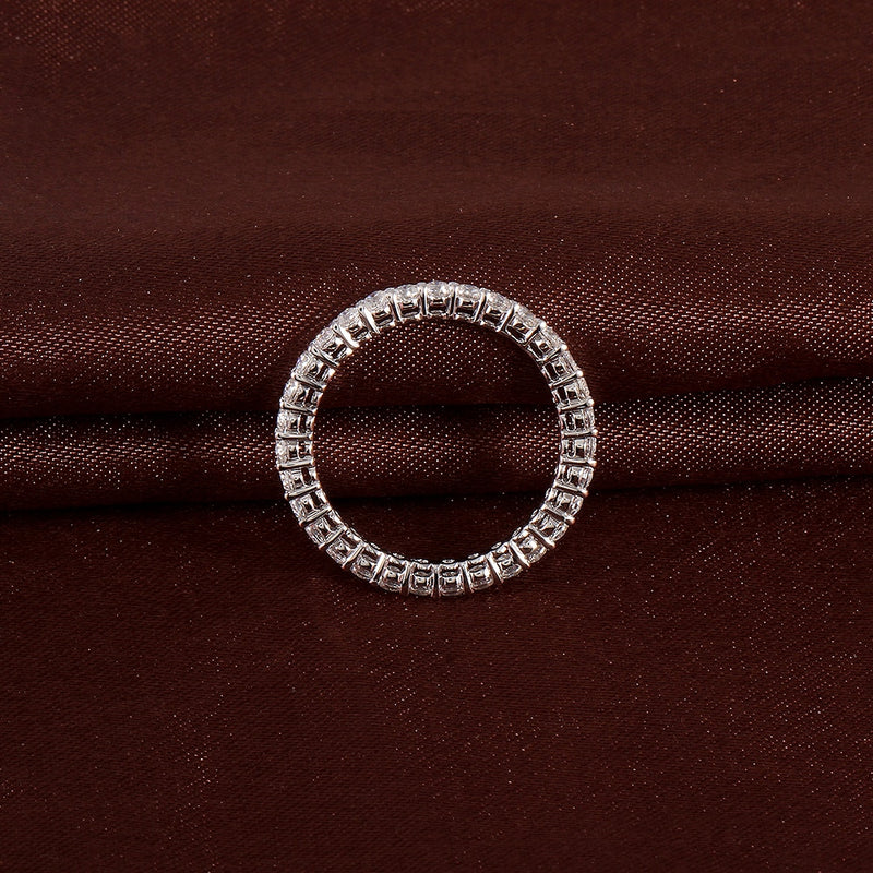10k White Gold Moissanite Eternity Ring 1ct Total