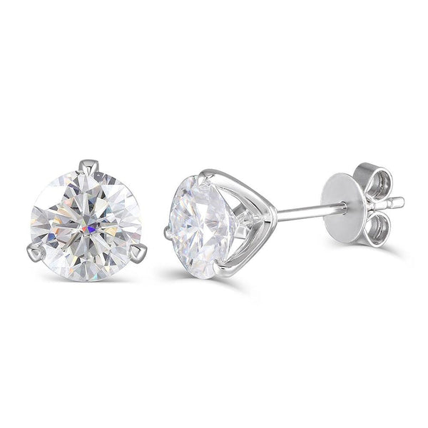 14k or 18k White Gold Stud Earrings 2ctw