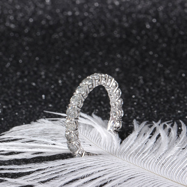 10k White Gold Moissanite Eternity Ring 2.3ct Total