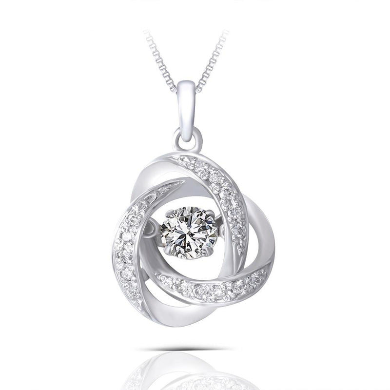 14k White Gold Moissanite Necklace / Pendant 0.25ct Center Stone