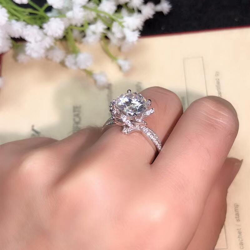 Vintage Moissanite Engagement Ring 1, 2, or 3 Carat Options - Luxus Moissanite Rings & Jewelry