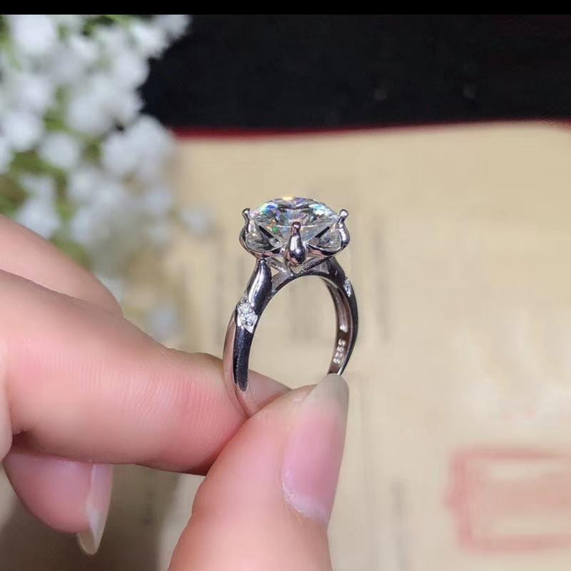 Solitaire Moissanite Engagement Ring 1, 2, or 3 Carat Options - Luxus Moissanite Engagement Rings