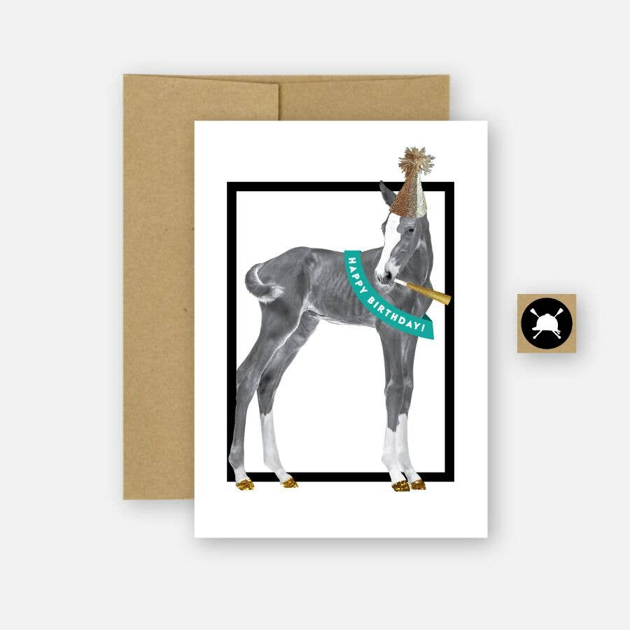 Happy Birthday Equestrian Horse Greeting Card