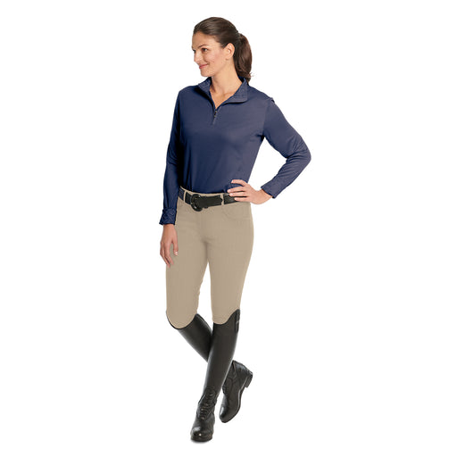 Euro Melange Ladies' Silicone Knee Patch Breech